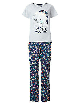 Marks /& Spencer Women Tatty Teddy Pyjamas Velvet Soft Feel Top/&Pants Loungewear