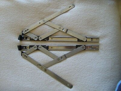 2 X Pair Securistyle Egress Easy Clean Upvc Ali Window Hinges Friction Stays