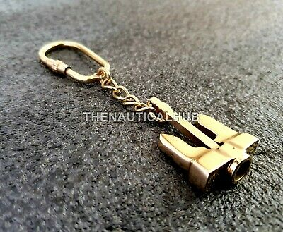 Brass Nautical Anchor Key Chain Vintage Solid Pendant Collectible Maritime Gift