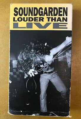 Sound Garden Louder Than Live 1990 VHS Tested EUC