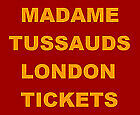 Madame Tussauds London E tickets x2 for Weds 13th March 2019. Time slot 13:15