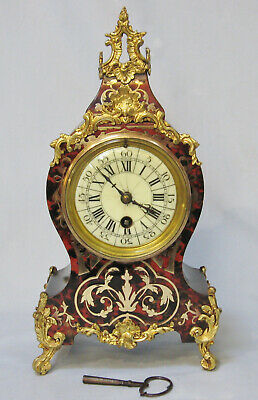 Antique French Boulle and Ormolu Mounted Timepiece Mantle Clock