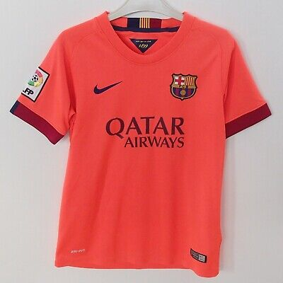 50dd8b46797 Barcelona Nike Football Top Jersey Qatar Airways Age 10-12 Bought From Camp  Nou