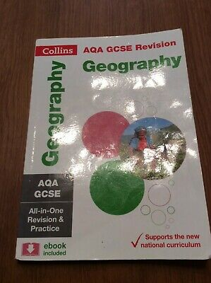 Collins AQA GCSE Revision Geography Book. Used