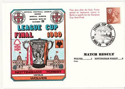 Dawn Football Event Cover (908) - 1980 League Cup Final - Wolves v Nott's Forest