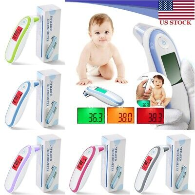 Infrared Digital Forehead Ear Thermometer Baby Kids Adult Fever Body Temperature