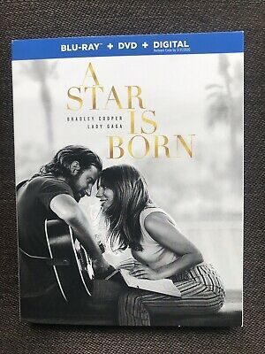 A Star Is Born (Blu Ray + DVD + Digital HD) w/ SLIP COVER! BRAND NEW!