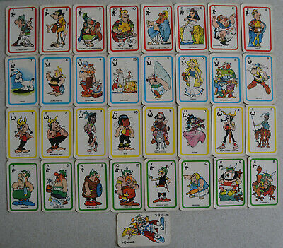 ASTERIX : jeu de cartes pub 1972 LEAF Le Roi du BUBBLE GUM - 32 cartes + joker