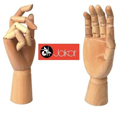 "Jakar Wooden Manikin Right Hand 12"" Adult Life Size Artists Shop Display Gesure"