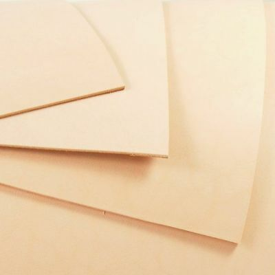 3mm 17 inch WIDE VEG TAN LEATHER NATURAL TANNED HIDE - TOOLING & CRAFT + LENGTHS