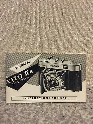 Original Voigtlander Vito IIa English Full Instruction Manual July 1956 VGC