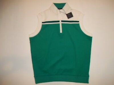 9c0902555 BOBBY JONES TECH Stripe X-H2O 1 4 Zip Pullover Golf VEST Jacket Mens ...
