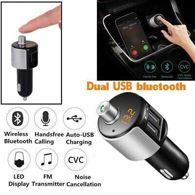 KFZ Bluetooth 4.2 FM Transmitter Auto Radio MP3 Player Dual USB SD Karte Adapter