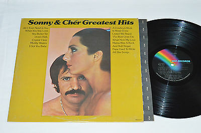SONNY & CHER Greatest Hits LP 1974 MCA-2117 Made in USA Vinyl VG I GOT YOU BABE+