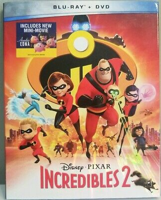 Incredibles 2 (Blu-Ray/DVD 3-Disc Set) Disney Pixar w/ Slipcover