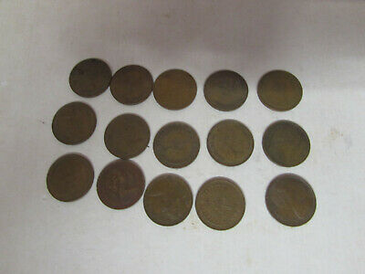 SMALL JOB LOT OF 15 1971-74 1/2p COINS HALF PENCE ALL USED
