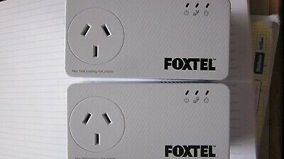 Netcomm NP511 500Mbps Powerline Kit with AC Pass-through Pair - Foxtel