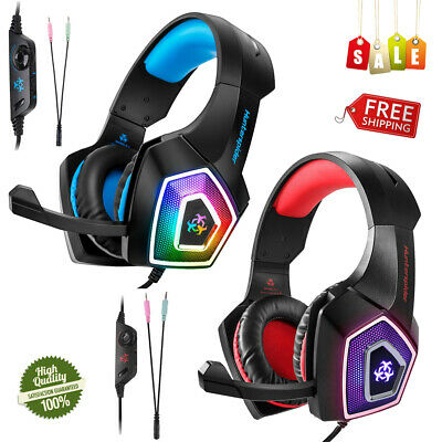 V1 Gaming Headset Bass Surround Headphone Noise Cancelling +Mic For PS4 Xbox One