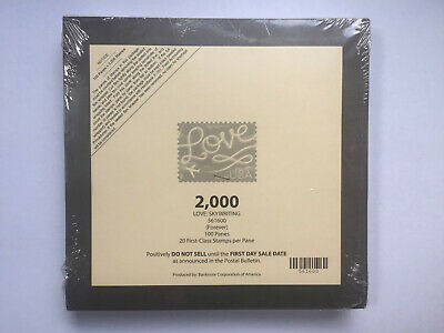 Package of 2000 Forever Love Skywriting Stamps.