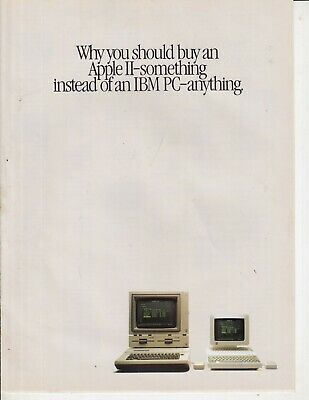1984 Apple  IIe Computer Ad 8 page Print Ad advertisement , 8 pages original
