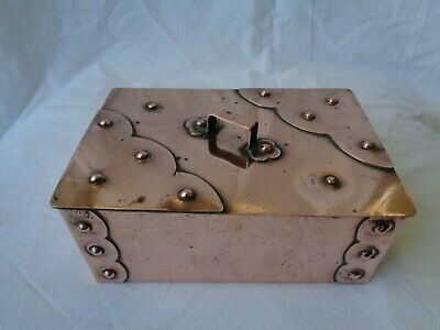 Arts & Crafts Copper Box with Lid