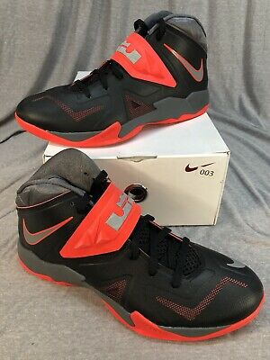 5a80bb6460b3 2013 NIKE Zoom Soldier VII Lebron Black Crimson Red Basketball 599264-003  SZ 11