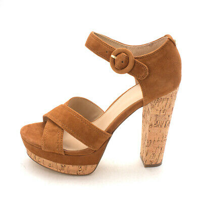 Guess Womens Parris Suede Open Toe Casual Strappy Sandals, Tan, Size 10.0