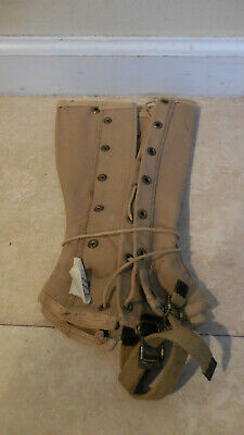 Original WW2 US Leggings Spats Half-Chaps Dated 1943 Named