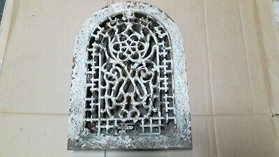 Antique Cast Iron Arch topVictorianHeat Grate/vent cover w/louvers
