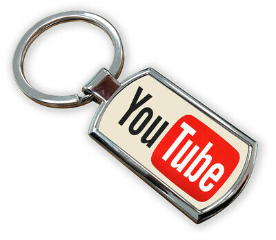 Youtube Metal Keyring With Gift Box Youtuber Videos Vlogs Adults Kids