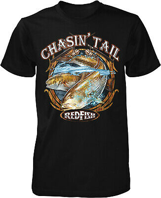 b101b3b156127 CHASIN  TAIL REDFISH Fishing T-Shirt -  7.09