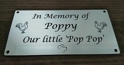 Personalised Pet Memorial Plaque any Animal Engraved 100 X 60mm
