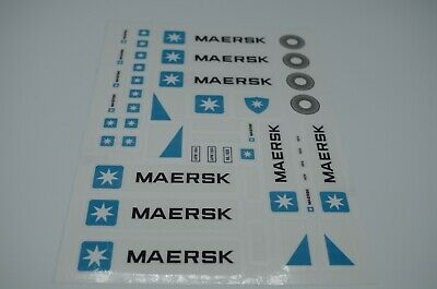 Custom Replacement Stickers for Lego 10219 Maersk Container Train