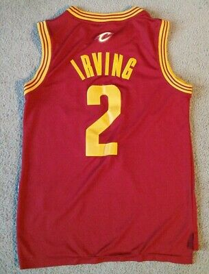 009f2a78cec Adidas Authentic Cleveland Cavaliers Kyrie Irving NBA Jersey - Size Medium