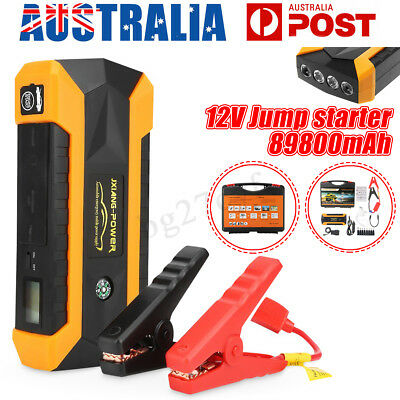 89800mAh 12V Car Jump Starter Portable Power Bank Booster Battery Charger 4 USB