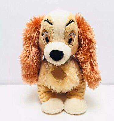 LADY & Tramp Plush Stuffed Animal Toy Dog Authentic Disney Store Exclusive 12""