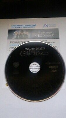 Fanstic Beasts Crimes Of Grindelwald 4k Disc only and Digital Code