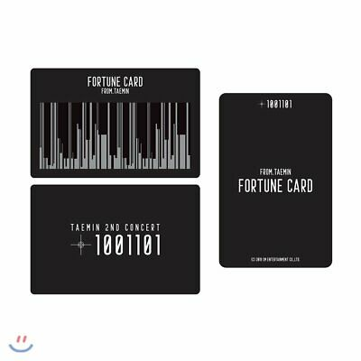 SM Town SHINee TAEMIN 2nd CONCERT T1001101 Official Fortune Photocard