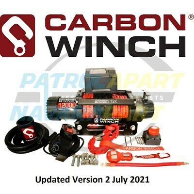 Carbon 12K 12000Lb Electric Winch With Synthetic Rope (Cw-12K)