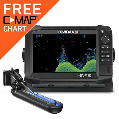 Lowrance HDS-7 Carbon MFD with TotalScan Transducer│Chartplotter/ Fishfinder/GPS