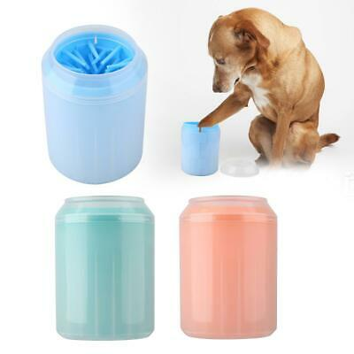 Portable Cup Dog Foot Cleaner Feet Washer Brushes Dog Paw Pet Cleaning Brush NEW