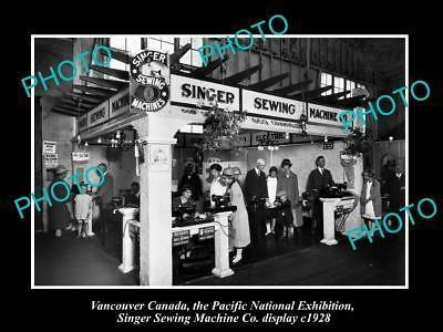 OLD HISTORIC PHOTO OF CANADA INDUSTY VANCOUVER SINGER SEWING MACHINES c1928