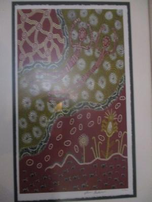 Framed Aboriginal Art by Alison Buchanan UNITY c 2000 Ltd # Edt Junnoy Murriwan