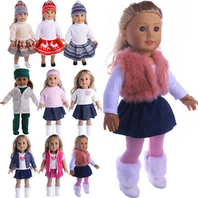 Doll Clothes Dress Outfits Pajames For 18 inch American Girl Our Generation Set