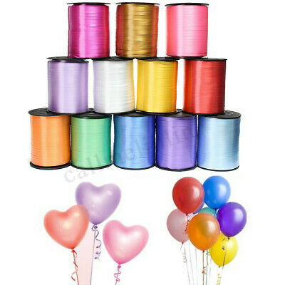 ALL COLOURS BALLOON RIBBON PRE-CUT IN 2 MTR LENGTHS OR 500 M ROLL for party