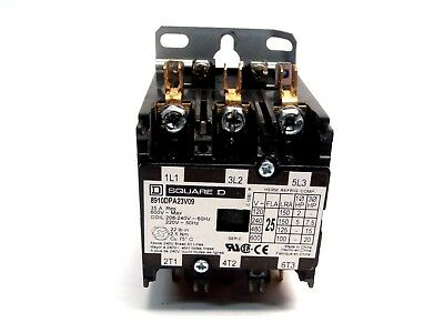 Square D 8910DPA23V09 Definite Contactor 25A 600VAC Panel Mount 3 Pole Coil