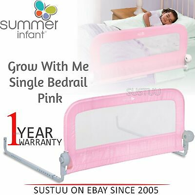 Summer Infant Grow With Me Single Bedrail│Baby Kid's Bed Safety Guard Rail│Pink