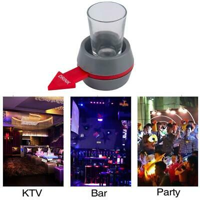 Fun Spinner Spin The Shot Drinking Game Roulette Glass Spinning Party Gift