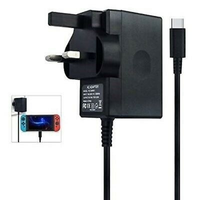 Nintendo Switch Switch Mains Adaptor / Adapter Charger Plug UK - Brand New