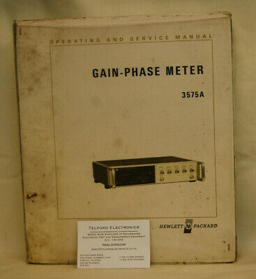 HP3575A Gain-Phase Meter Operating & Service Manual